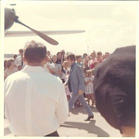 Ringo in the crowd at Walnut Ridge, Arkansas