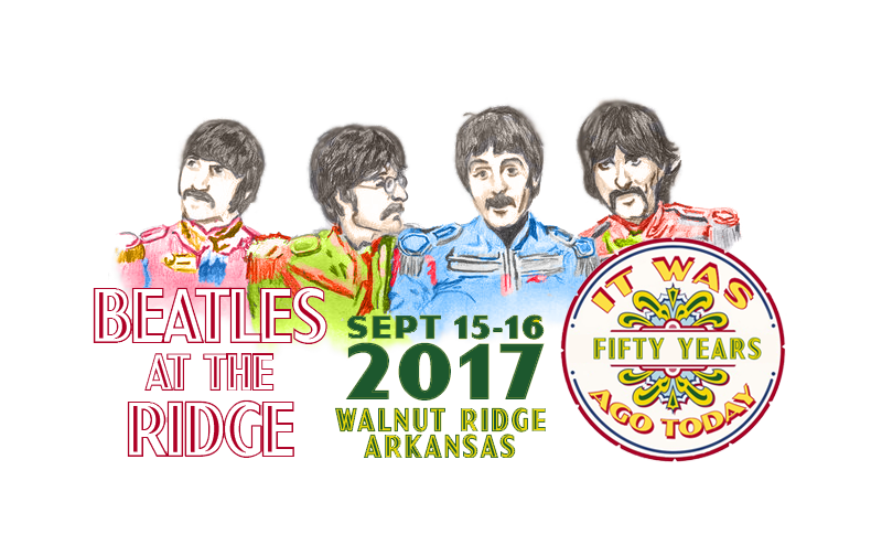 Beatles at the Ridge Music Festival – Walnut Ridge, Arkansas – Sept 15 & 16, 2017 Logo